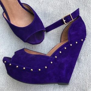Purple and Gold Aldo wedges